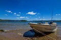 Fishing Boat and beautiful lake Royalty Free Stock Photo