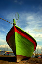 Fishing boat at cherating beach in kuantan east coast of malaysia Stock Photos
