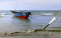 Fishing boat Currimao Beach.