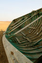 Fishing boat in the desert Royalty Free Stock Photo