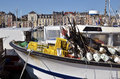 Fishing boat at dieppe in france closeup the port of commune the seine maritime department the haute normandie region northwestern Stock Image