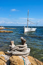 Fishing boat in Formentera, Balearic Islands Stock Photo