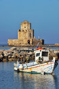 Fishing boat in Methoni Royalty Free Stock Photo