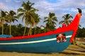 Fishing boat in muslim village Royalty Free Stock Photo