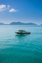 Fishing boat on ocean in koh chang thailand Royalty Free Stock Photo
