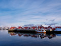 Fishing boat in port of Svolvaer, Lofoten, Norway Royalty Free Stock Photo