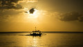 Fishing boat returning home Royalty Free Stock Photo