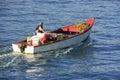 Fishing boat in Samana bay Royalty Free Stock Photo