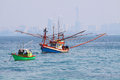 Fishing boat in sea Royalty Free Stock Photography