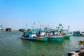 Fishing boat on the sea in the early morning Royalty Free Stock Image