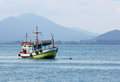 Fishing boat in sea thailand Royalty Free Stock Image