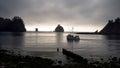 Fishing Boat Seastacks Pacific Ocean West Coast Royalty Free Stock Photo