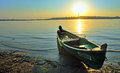 A fishing boat on the shore Royalty Free Stock Photo