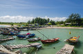 Fishing boat in Thai sea Royalty Free Stock Photos