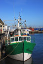 Fishing boat trawler in brixham harbour Royalty Free Stock Images