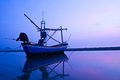 Fishing boat in twilight Royalty Free Stock Images