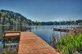 Dock On Washington State Lake ...