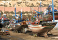Fishing boats in Agadir Royalty Free Stock Photos
