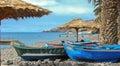 Fishing boats on the beach Royalty Free Stock Photo