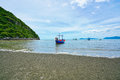 Fishing boats and the beach in Pran Buri, Thailand Royalty Free Stock Photo