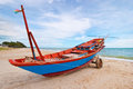 Fishing Boats in blue sky Stock Images