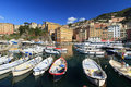 Fishing boats in Camogli Stock Image
