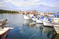 Fishing boats at Chalcis Euboea Greece Royalty Free Stock Photo