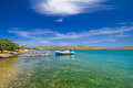 Fishing boats at the coast of crete greece Royalty Free Stock Image