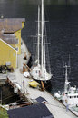 Fishing boats at dock Stock Image