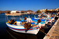 Fishing boats in Elounda (Crete, Greece). Stock Image