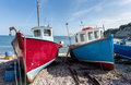 Fishing boats on an english shingle beach Stock Image
