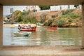 Fishing boats in Ferragudo, Algarve, Portugal Royalty Free Stock Photo