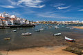 Fishing boats in Ferragudo harbor Royalty Free Stock Photo