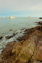 Fishing boats go to open sea in Chanthaburi,Thailand. Stock Image