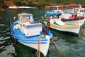 Fishing boats in Greece Stock Images