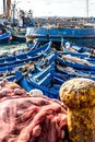 Fishing Boats in the harbor in Essaouira, Morocco
