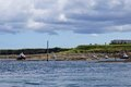Fishing Boats In The Harbour At Seahouses, Northumberland, England Royalty Free Stock Photo