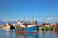 Fishing Boats at Kalk Bay Harbor Royalty Free Stock Photo