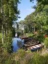 Fishing boats on a lake in ireland lough leane near ross castle killarney Royalty Free Stock Photo