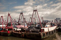 Fishing boats lie at a harbor in beihai guangxi zhuang autonomous region southwest china Stock Photos