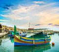 Fishing boats in  Malta Royalty Free Stock Photo