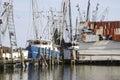 Fishing Boats moored at the harbor at Amelia Island, Florida. Royalty Free Stock Photo