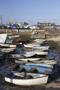 Fishing Boats at Old Leigh, Essex, England Stock Photography