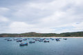 Fishing boats at phu yen vietnam Stock Photos