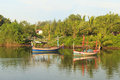 Fishing boats in the river thailand Royalty Free Stock Photography