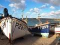 Fishing Boats Sennen Cove Cornwall Royalty Free Stock Photo