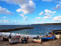 Fishing Boats Sennen Cove Cornwall Royalty Free Stock Images