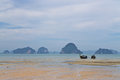 Fishing boats in thailand on the adaman sea Royalty Free Stock Photography