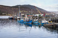 Fishing boats in Ullapool harbour Stock Photography