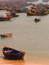 Fishing Boats of Vietnam Stock Images